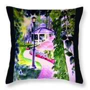 Garden City Gazebo Throw Pillow