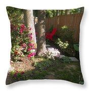 Garden Cleanup Throw Pillow