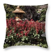 Garden Color At Woodward Park 22f Throw Pillow