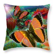 Garden Day Throw Pillow by Alixandra Mullins