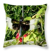Garden Dragonfly Throw Pillow