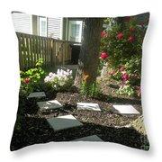 Garden Entrance Throw Pillow