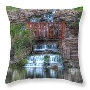 Garden Falls Throw Pillow
