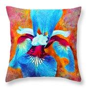 Garden Fiesta Throw Pillow by Moon Stumpp