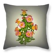 Garden Flowers 6 Throw Pillow