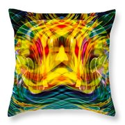 Garden Flowers Throw Pillow by Omaste Witkowski
