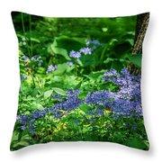 Garden Flox Throw Pillow