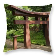 Garden Gateway Throw Pillow