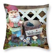Garden Gnome - Square Throw Pillow