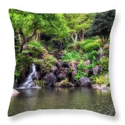 Garden Green Throw Pillow