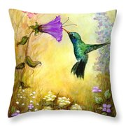 Garden Guest In Brown Throw Pillow