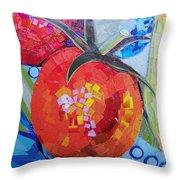 Garden Harvest Collage Detail Throw Pillow