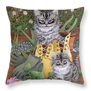 Garden Helpers  Throw Pillow
