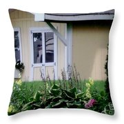 Garden House Of Flowers Throw Pillow