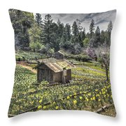 Garden Houses On Daffodil Hill  Throw Pillow