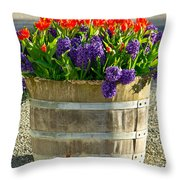 Garden In A Bucket Throw Pillow by Eti Reid