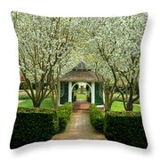 Garden In Full Bloom Throw Pillow