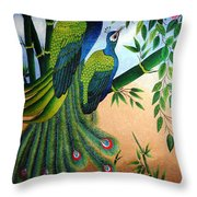 Garden Jewel II Hand Embroidery Throw Pillow by To-Tam Gerwe