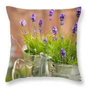Garden Lavender Throw Pillow
