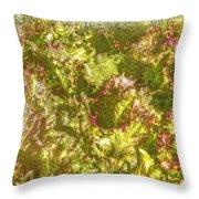 Garden Lettuce - Green Gold Throw Pillow