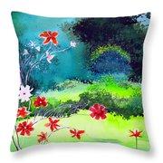 Garden Magic Throw Pillow