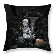Garden Maiden Throw Pillow