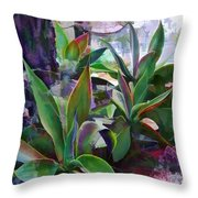 Garden Of Agave Throw Pillow