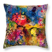 Garden Of Heavenly And Earthly Delights Throw Pillow