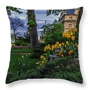 Sunset At Garden Of Les Invalides Throw Pillow