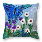 Garden Of The Full Moon Throw Pillow