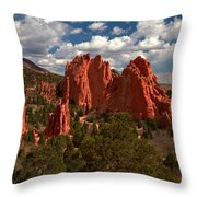 Garden Of The Gods Afternoon Throw Pillow