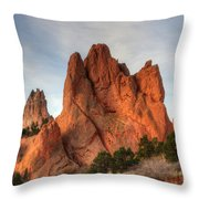 Garden Of The Gods Colorado Throw Pillow
