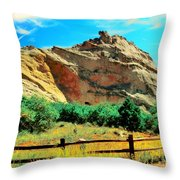 Garden Of The God's-colorado Throw Pillow