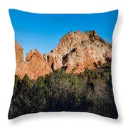 Garden Of The Gods Formation Throw Pillow