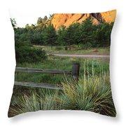 Garden Of The Gods In Morning Sun Throw Pillow