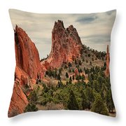 Garden Of The Gods Jagged Peaks Throw Pillow