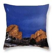 Garden Of The Gods Star Storm Throw Pillow