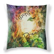 Garden Of Visions And Dreams Throw Pillow