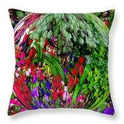 Garden Orb Throw Pillow