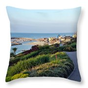Garden Overview - Lyme Regis Throw Pillow