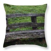 Garden Park Bench Throw Pillow