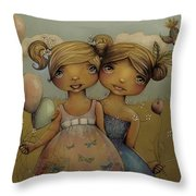 Garden Party Throw Pillow by Karin Taylor
