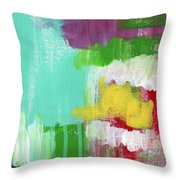 Garden Path- Abstract Expressionist Art Throw Pillow