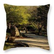 Garden Pathway Throw Pillow