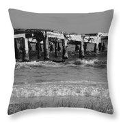 Garden Pier Atlantic City Throw Pillow