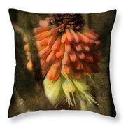 Garden Poker Flower Throw Pillow