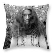 Garden Portrait 1979 Throw Pillow