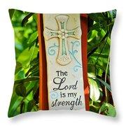 Garden Prayer Throw Pillow