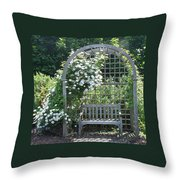 Garden Respite Throw Pillow