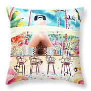 Garden Restaurant Throw Pillow